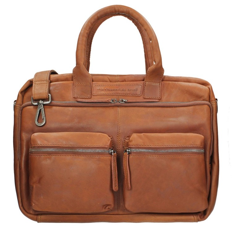 "The Chesterfield Brand - Julius Damen Herren Ledertasche 15""  Laptop Business-Bag  -- Black, Cognac, Brown"