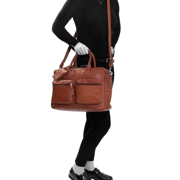"The Chesterfield Brand - William Damen Herren Ledertasche 15""  Laptop Business-Bag  -- Black, Cognac, Brown"