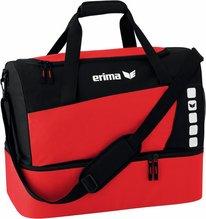 Sporttasche Erima mit Bodenfach Farbe rot/schwarz Gr. M + L