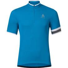 Rad-Trikot Herren Odlo Stand-up collar 1/2 zip blau und grau