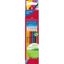 Faber-Castell Farbstift Colour GRIP 112406 farbig sortiert 6 St./Pack.