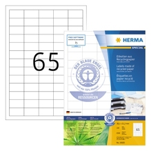 HERMA Etikett 10820 RC 38,1x21,2mm matt ws 6.500 St./Pack.