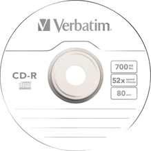 Verbatim CD-R 43411 52x 700MB 80Min. Spindel 100 St./Pack.