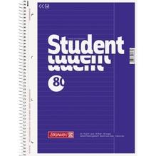 BRUNNEN Collegeblock Student 1067925 DIN A4 80Bl. liniert weiß