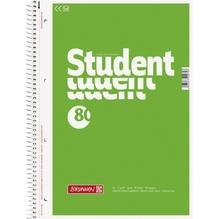 BRUNNEN Collegeblock Student 1067940 DIN A4 80Bl. blanko weiß