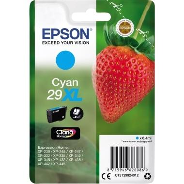 Epson Tintenpatrone C13T29924012 29XL 6,4ml 450Seiten cyan