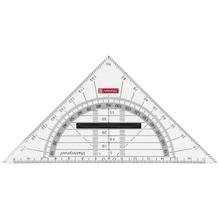 Geometrie-Dreieck 16cm Griff onyx