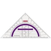 Geometrie-Dreieck 16cm Griff purple