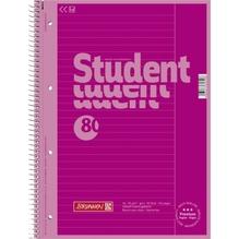 Collegeblock A4 pink Lin25