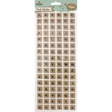 Korksticker Alphabet quadratisch SB-Btl 96Stück