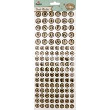 Korksticker Alphabet rund SB-Btl 126Stück