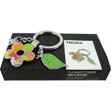 TROIKA Schlüsselanhänger FLOWER POWER Blume Schmetterling