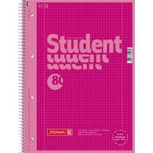 BRUNNEN Collegeblock 28126 DIN A4 80Bl. kariert pink