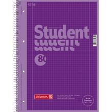 BRUNNEN Collegeblock 28160 DIN A4 80Bl. kariert purple