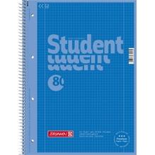 BRUNNEN Collegeblock 1067928133 DIN A4 80 Blatt kariert azur
