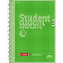 BRUNNEN Collegeblock 28152 DIN A4 80Bl. kariert grün