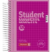 Collegeblock A6 120 Blatt kariert pink