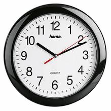 Hama Wanduhr PP-250 00113920 25cm analog Kunststoff sw
