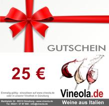 Geschenkgutschein über 25 €