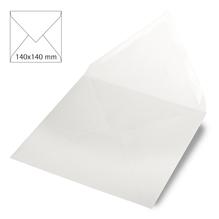 Kuvert quadratisch, uni,FSC Mix Credit, 140x140mm, 90g/m2, Beutel 5Stück, weiß