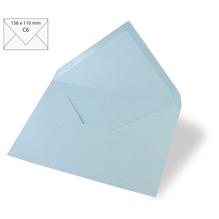 Kuvert C6, uni, FSC Mix Credit, 156x110mm, 90g/m2, Beutel 5Stück, babyblau