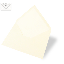 Kuvert B6, uni, FSC Mix Credit, 180x120mm, 90g/m2, Beutel 5Stück, elfenbein