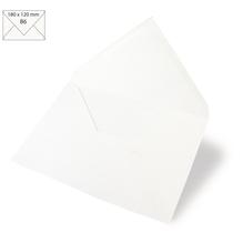 Kuvert B6, uni, FSC Mix Credit, 180x120mm, 90g/m2, Beutel 5Stück, weiß