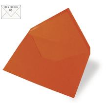 Kuvert B6, uni, FSC Mix Credit, 180x120mm, 90g/m2, Beutel 5Stück, orange