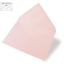 Kuvert B6, uni, FSC Mix Credit, 180x120mm, 90g/m2, Beutel 5Stück, babyrosa