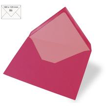 Kuvert B6, uni, FSC Mix Credit, 180x120mm, 90g/m2, Beutel 5Stück, pink