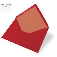 Kuvert B6, uni, FSC Mix Credit, 180x120mm, 90g/m2, Beutel 5Stück, kardinalrot