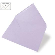 Kuvert B6, uni, FSC Mix Credit, 180x120mm, 90g/m2, Beutel 5Stück, lavendel