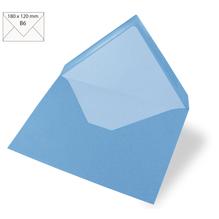 Kuvert B6, uni, FSC Mix Credit, 180x120mm, 90g/m2, Beutel 5Stück, azurblau