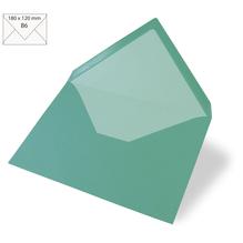 Kuvert B6, uni, FSC Mix Credit, 180x120mm, 90g/m2, Beutel 5Stück, türkis