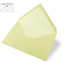 Kuvert B6, uni, FSC Mix Credit, 180x120mm, 90g/m2, Beutel 5Stück, pastellgrün