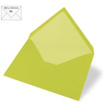 Kuvert B6, uni, FSC Mix Credit, 180x120mm, 90g/m2, Beutel 5Stück, lindgrün
