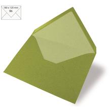 Kuvert B6, uni, FSC Mix Credit, 180x120mm, 90g/m2, Beutel 5Stück, olive