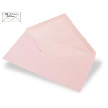 Kuvert DIN Lang, uni, FSC Mix Credit, 220x110mm, 90g/m2, Beutel 5Stück, babyrosa
