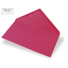 Kuvert DIN Lang, uni, FSC Mix Credit, 220x110mm, 90g/m2, Beutel 5Stück, pink