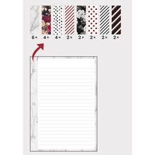 Notizzettel, A5, FSC MixCred, gemustert, 100g/m2, SB-Btl 24Blatt