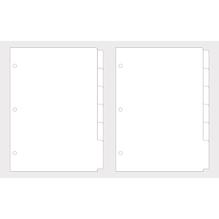 Register, blanko, A5, FSC MixCred, 2x6 Register, 200g/m2, SB-Btl 12Stück