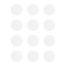 Blanko-Sticker rund,12 St/Bogen, 2,5cm ø, 80g, permanent klebend, SB-Btl 3Bogen, weiß