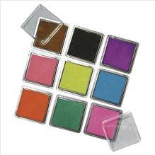 Scrapbooking Stempelkissen-Set, gemischt, 3,5x3,5 cm, Set 9 Farben