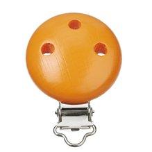 Schnulli-Ketten Clip, 37 x 11,5 mm, aprikot, 1 Stück