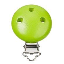 Schnulli-Ketten Clip, 37 x 11,5 mm, apfelgrün, 1 Stück