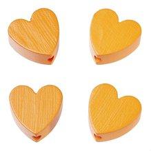 Schnulli-Herz 20 x 20 x 8 mm, Loch 3 mm, aprikot, 4 Stück
