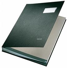 Leitz Unterschriftsmappe 57010095 DIN A4 10 Fächer Graupappe schwarz