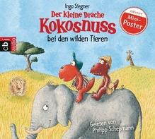 Der kleine Drache Kokosnuss bei den wilden Tieren, 1 Audio-CD   Siegner, Ingo