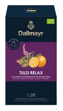 Dallmayr Pyramidenbeutel Tulsi Relax Ayurvedischer Kräuter Tee Orange Ingwer