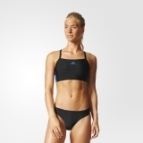 Adidas Damen Schwimm-Bikini Essence Core 3S 2PC black/blue